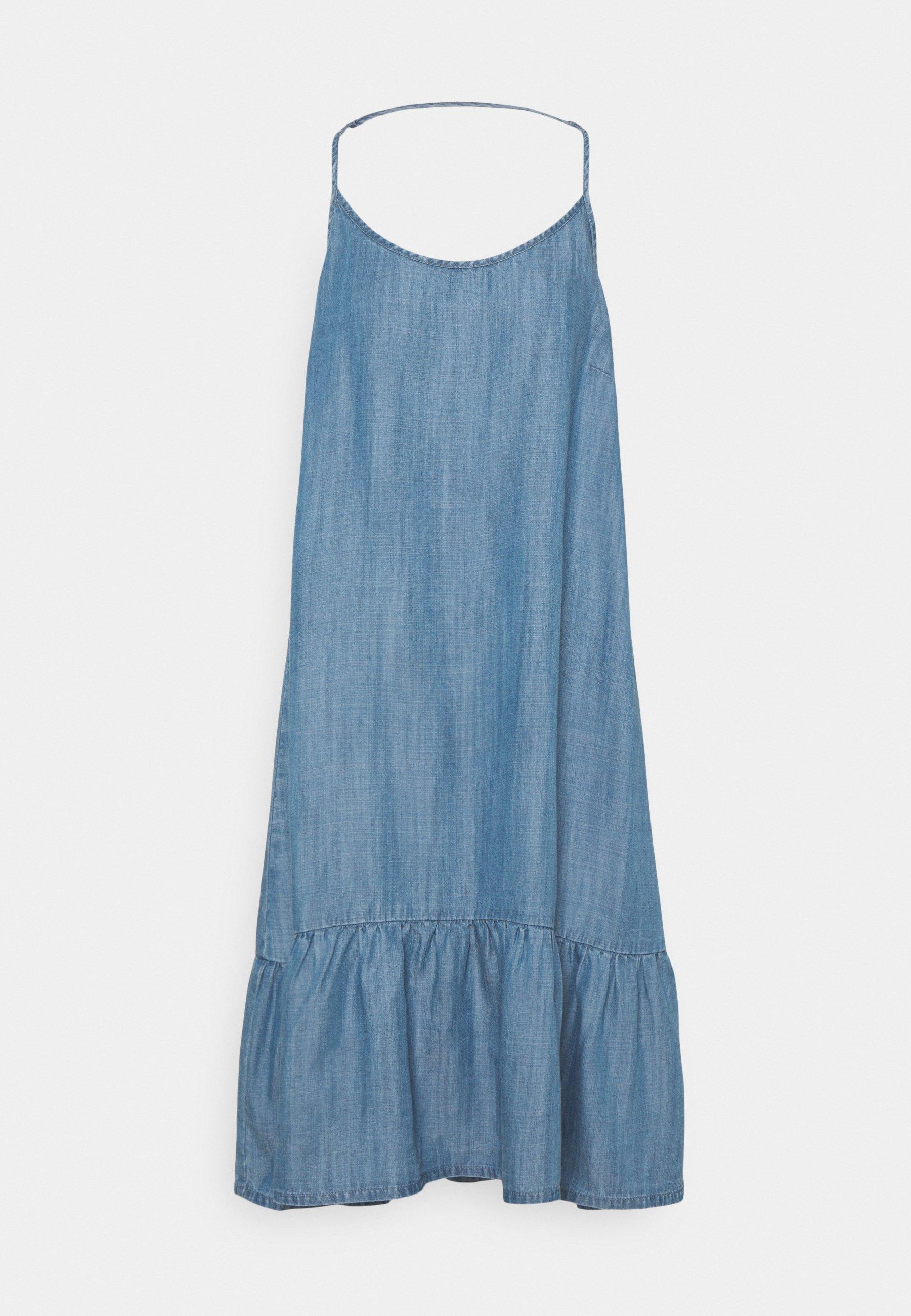 Women LANA SHORT DRESS - Denim dress