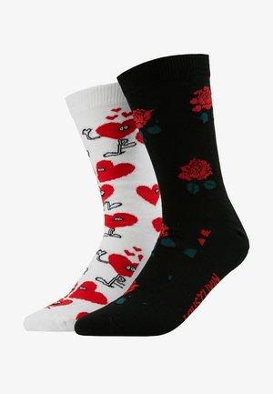 ROSE VALENTINES 2 PACK - Socks - black/white