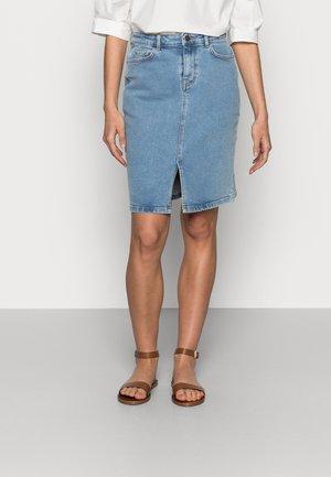 CALISSA RIKKA DENIM SKIRT - Denimová sukně - vintage l blue