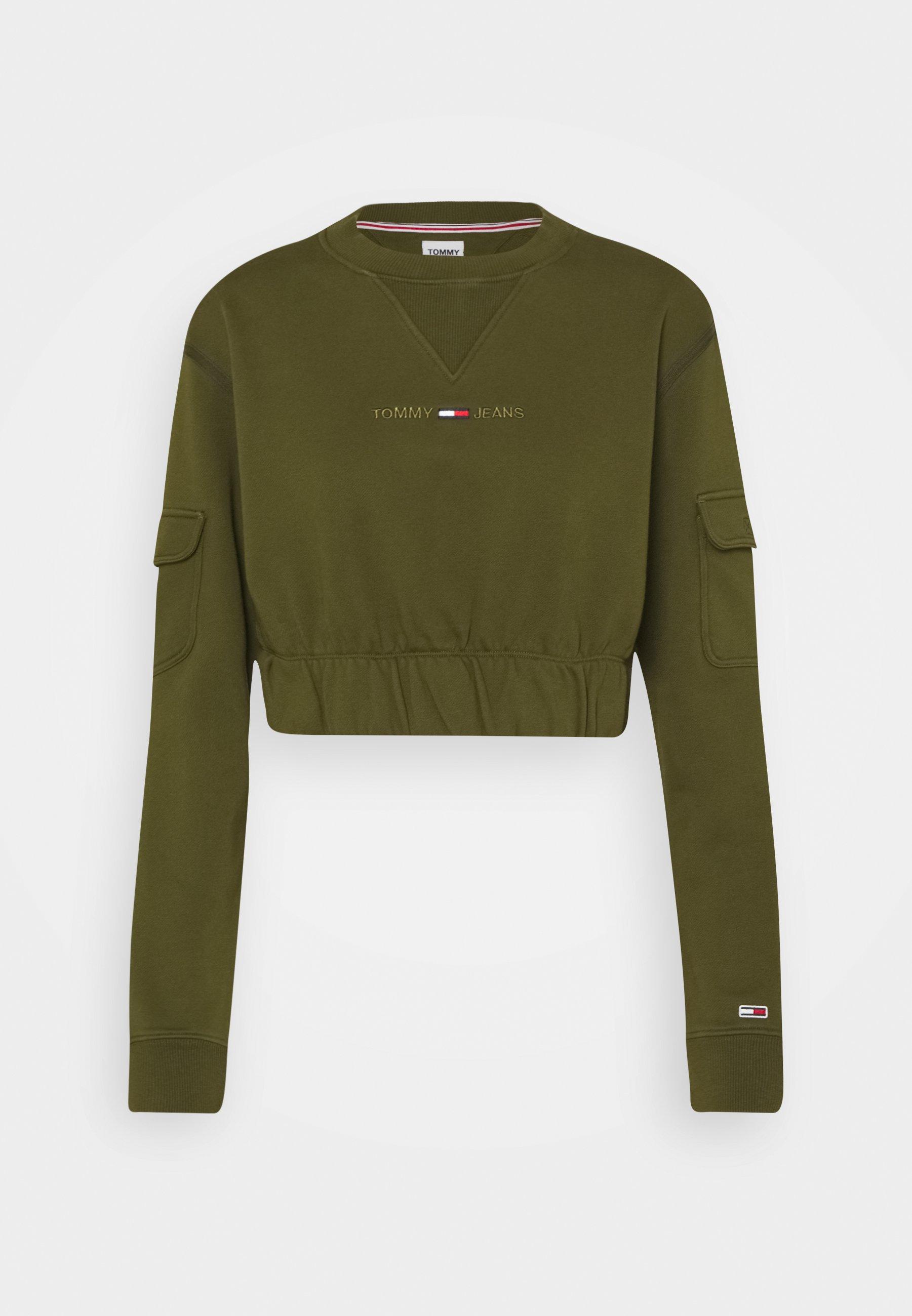 Damen CROP UTILITY CREW - Sweatshirt
