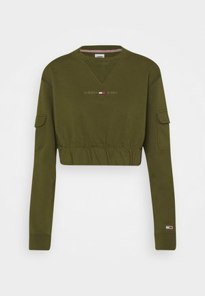 CROP UTILITY CREW - Sweatshirt - northwood olive