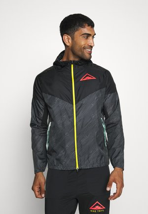TRAIL - Windbreaker - black/laser crimson