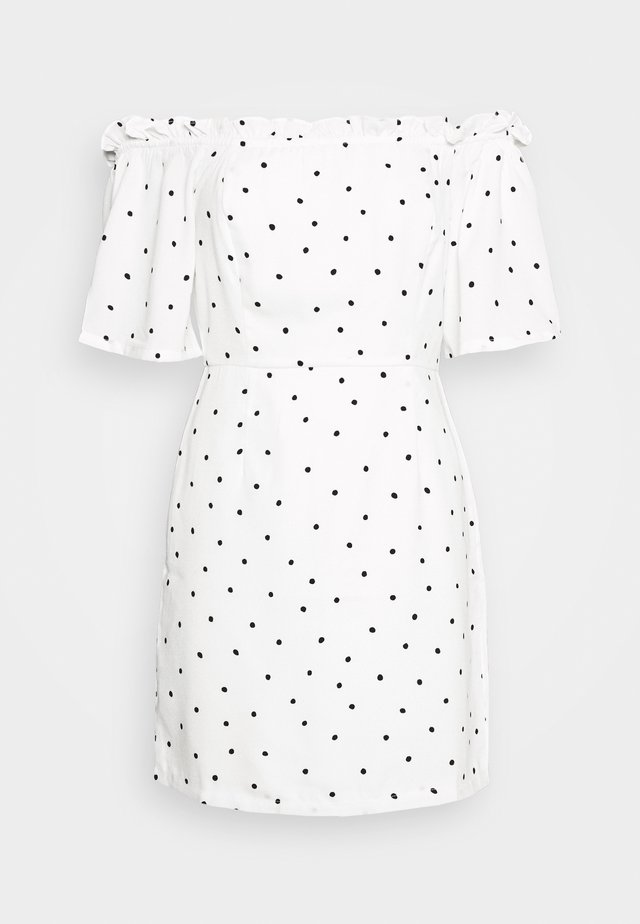BARDOT DRESS - Korte jurk - white/black