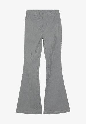 AURORA FLARE PANT - Spodnie materiałowe - black/white