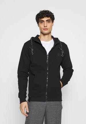 CAYCE - Zip-up hoodie - black