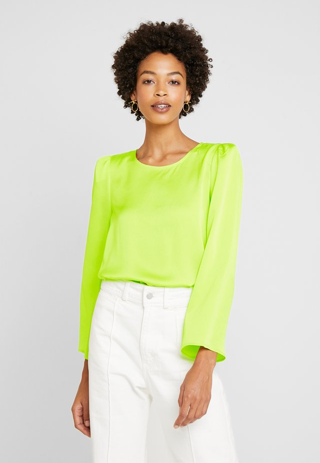 SHOULDER PAD BLOUSE - Pusero - lime chrome
