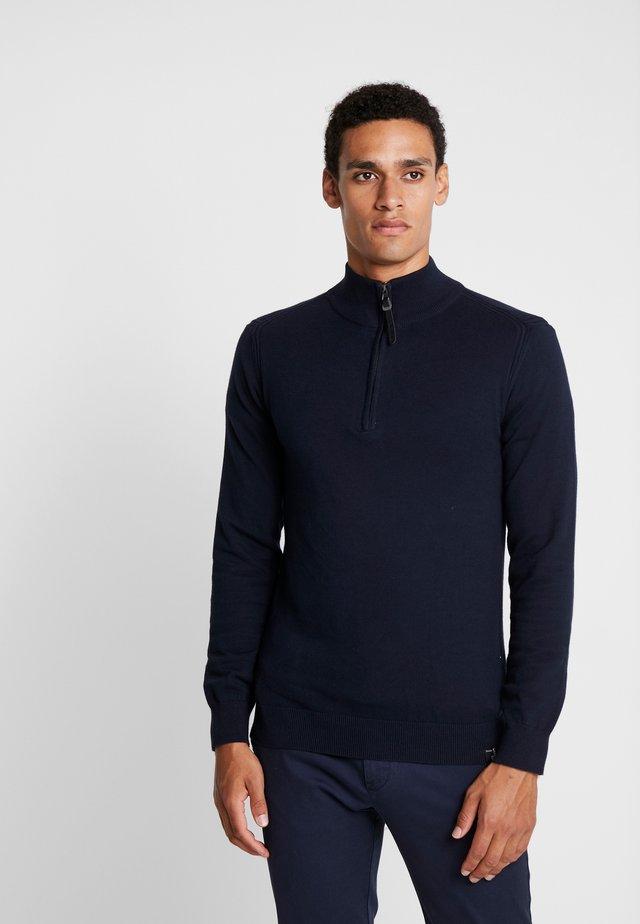 ANACONA - Stickad tröja - navy