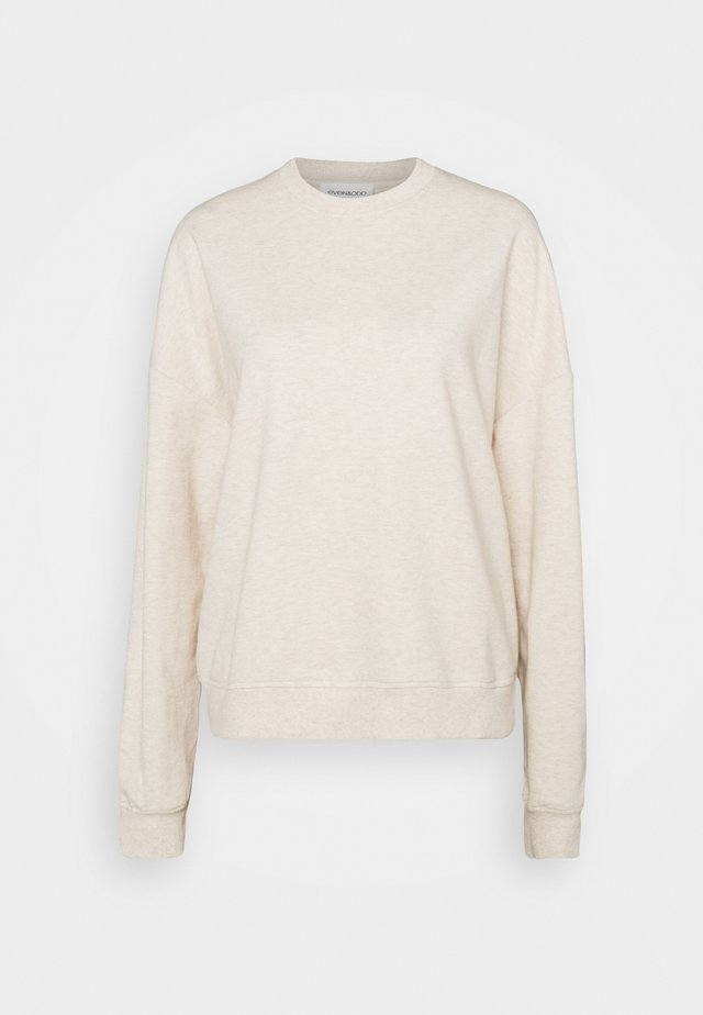 BASIC OVERSIZE SWEATSHIRT - Sweatshirt - beige