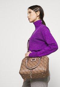 Guess - CANDACE SOCIETY SATCHEL - Handbag - brown - 1