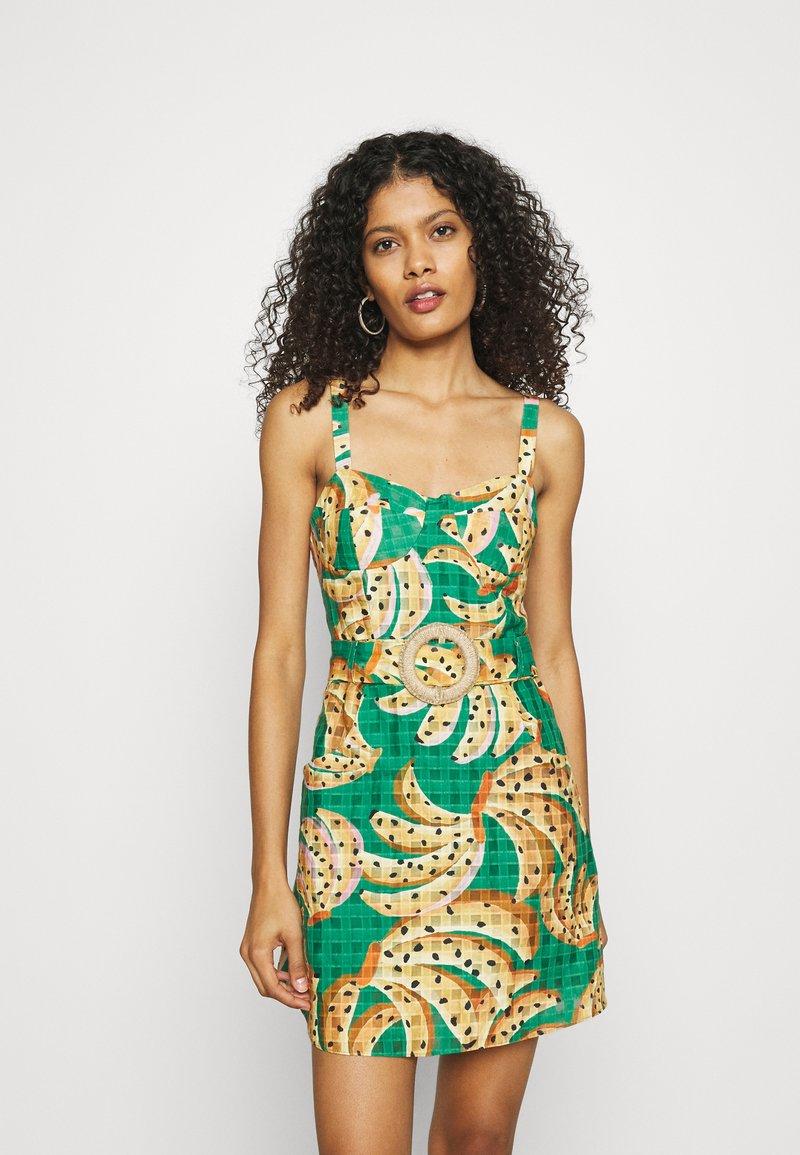 Farm Rio - RAINING BANANAS MINI DRESS - Day dress - multi