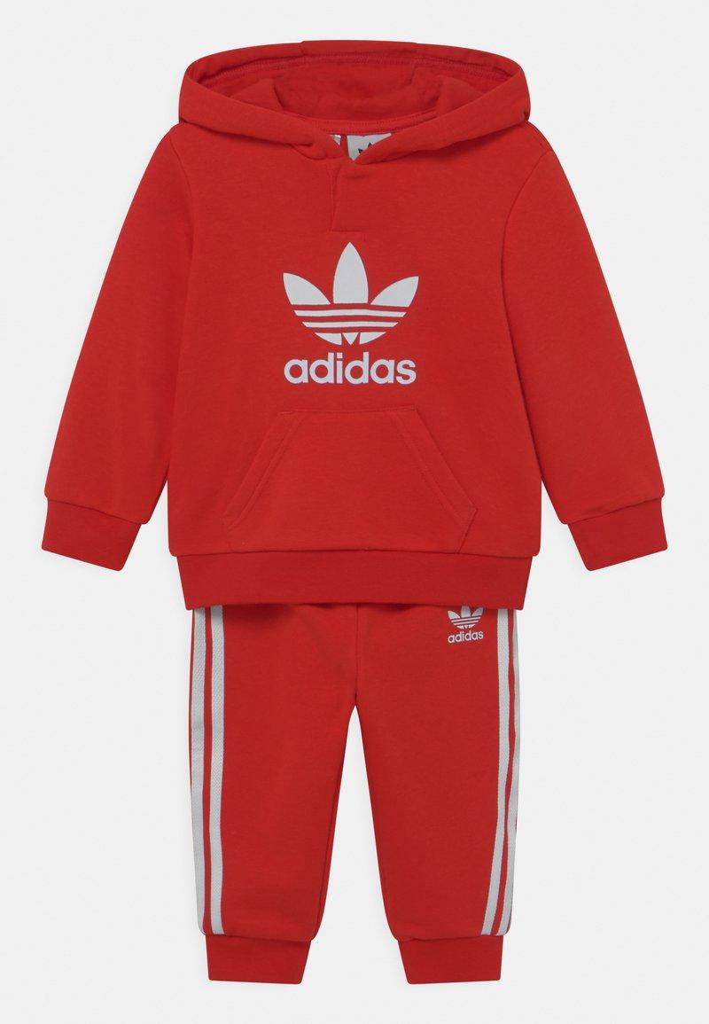 adidas Originals - HOODIE SET UNISEX - Trainingspak - red/white