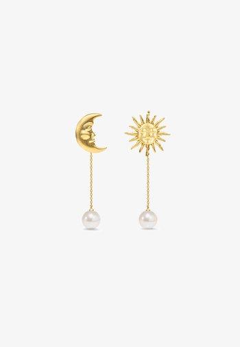 THE LOVERS BACKDROP EARRINGS - Earrings - gold