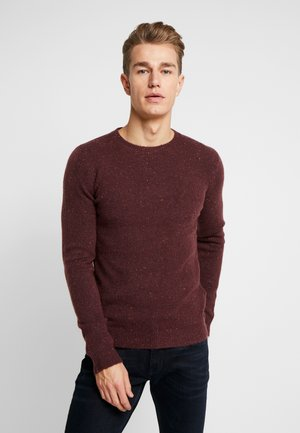 COSY NEP SWEATER - Jumper - burgundy