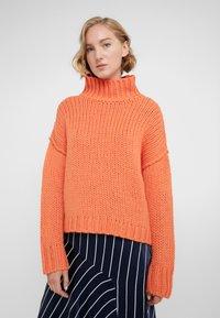 HUGO - STELLY - Stickad tröja - bright orange - 0