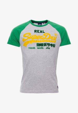 DUO RAGLAN - Print T-shirt - grey marl
