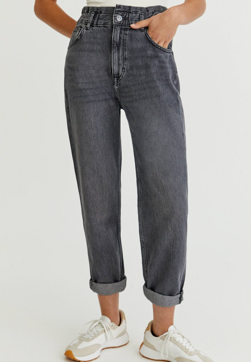 PULL&BEAR - Straight leg jeans - black