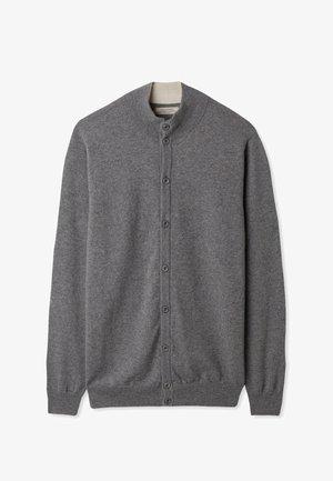 MIT KNÖPFEN  - Cardigan - grau- dark grey melange