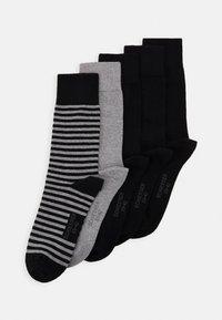 Schiesser - 5 PACK - Socks - black/mottled dark grey - 0