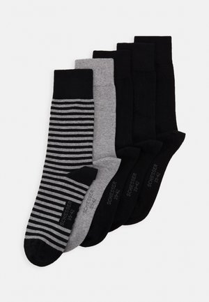 5 PACK - Socks - black/mottled dark grey