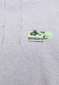 Mennace - JAPAN OVERHEAD HOODIE - Huvtröja med dragkedja - grey - 6