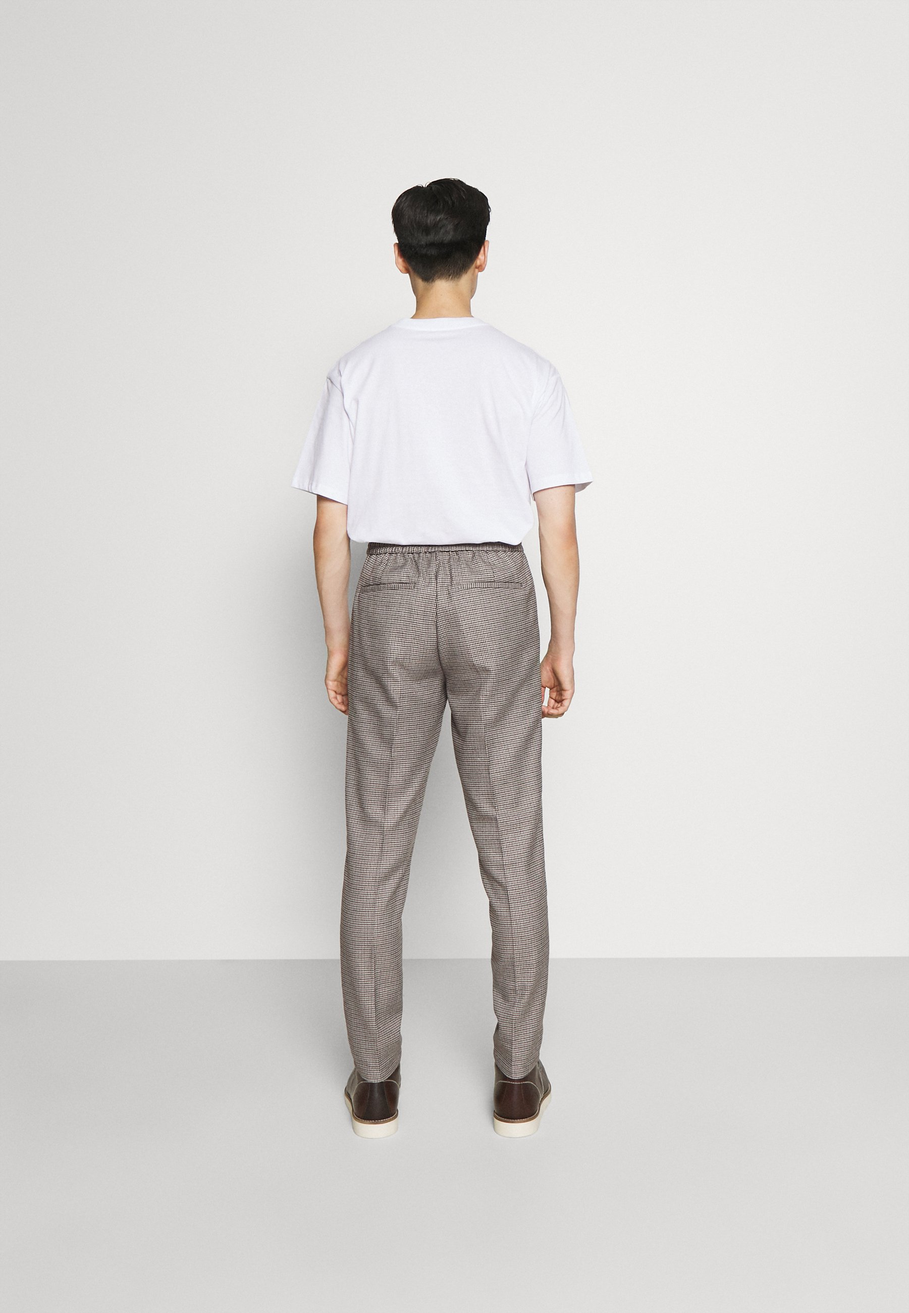 Herren HOUNDTOOTH PANTS WITH STRING - Stoffhose
