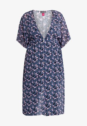 CHARMINGFLORAL MAXI DUSTER - Bluser - classic navy