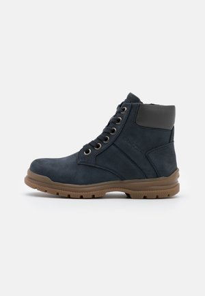 NAVADO BOY - Bottines à lacets - navy/dark grey