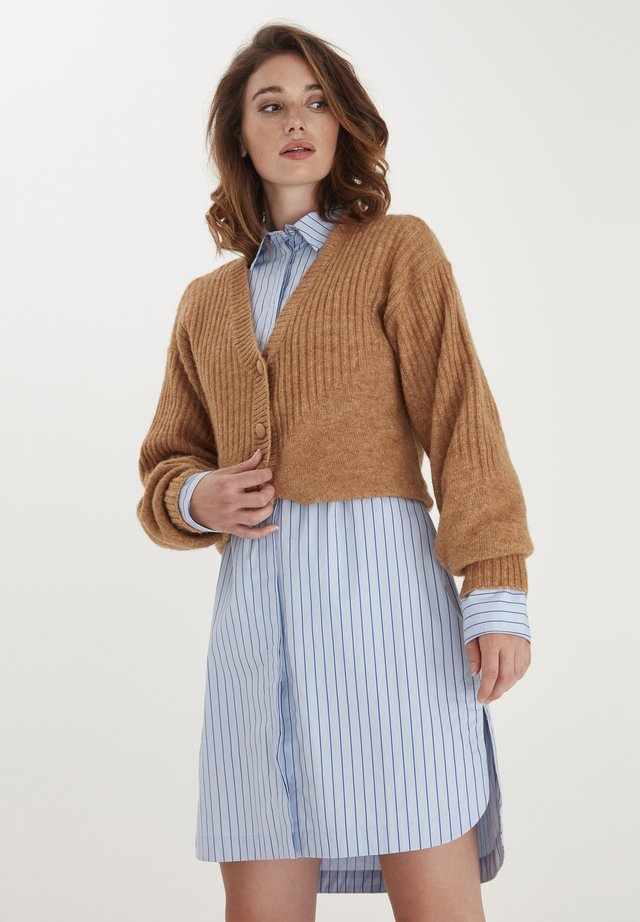 Cardigan - indian tan melange