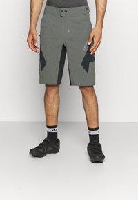 Zimtstern - TAURUZ EVO SHORT MENS - Sports shorts - gun metal/pirate black - 0