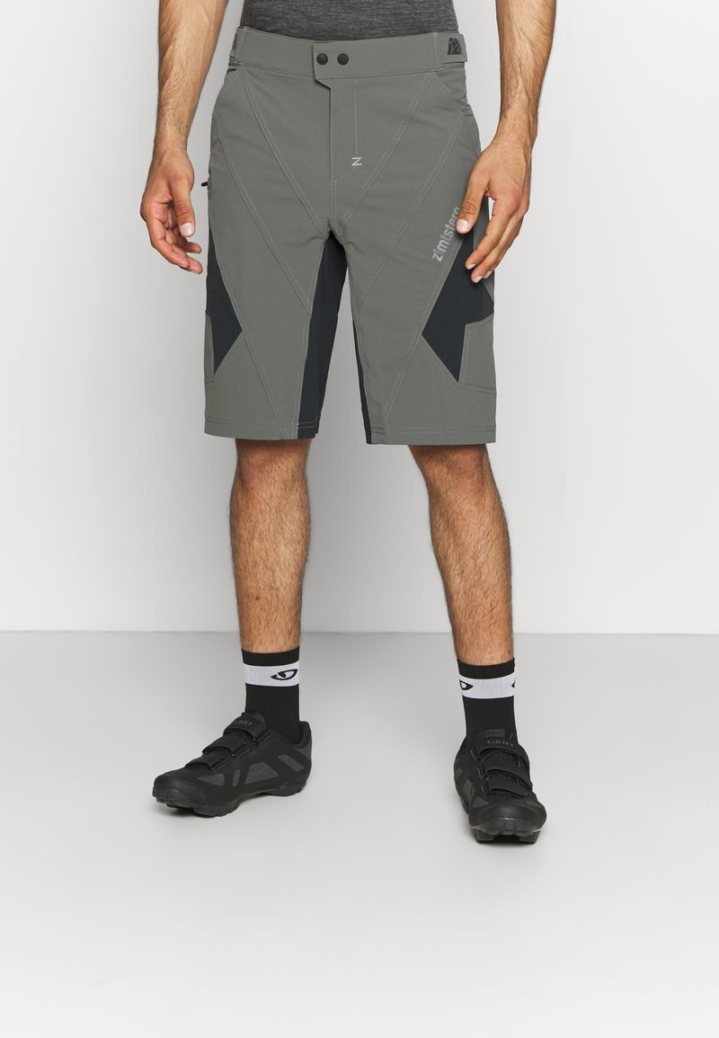 Zimtstern - TAURUZ EVO SHORT MENS - Sports shorts - gun metal/pirate black