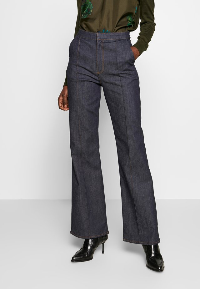 FLAME - Flared Jeans - dark blue