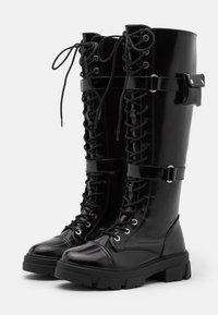 ALDO - SADIYA - Botas con cordones - black - 2