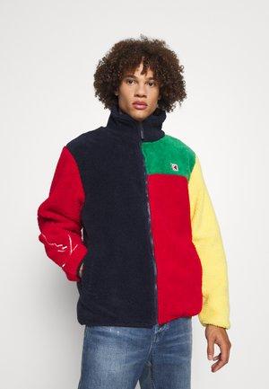 SIGNATURE BLOCK TEDDY JACKET UNISEX  - Fleece jacket - navy