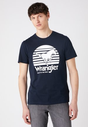 SS HORSE - T-shirt z nadrukiem - dark navy