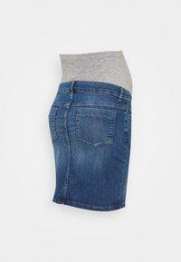 MAMALICIOUS - MLSAVANNA ORGANIC SKIRT - Spódnica mini - light blue denim - 1
