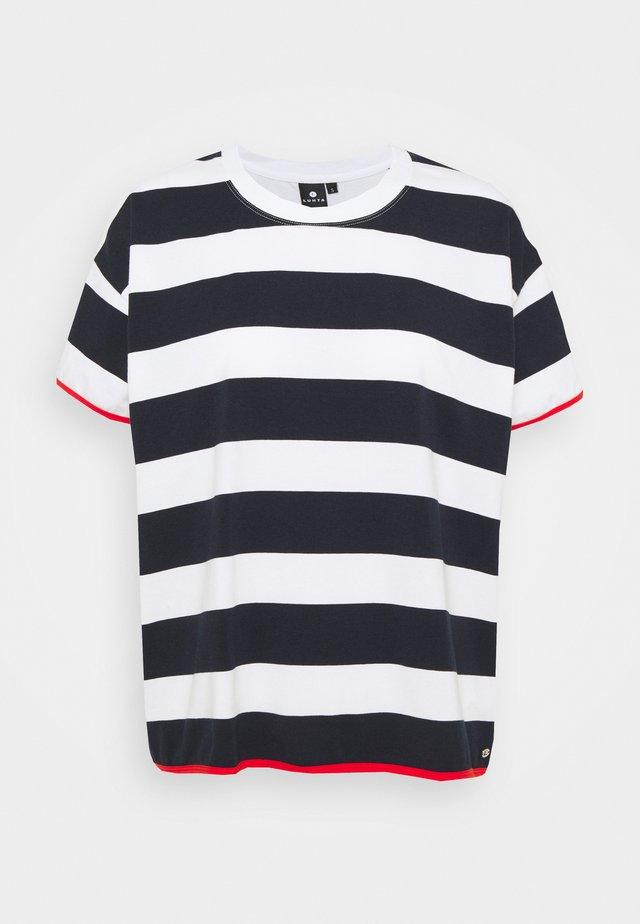 AHMOO - Print T-shirt - dark blue