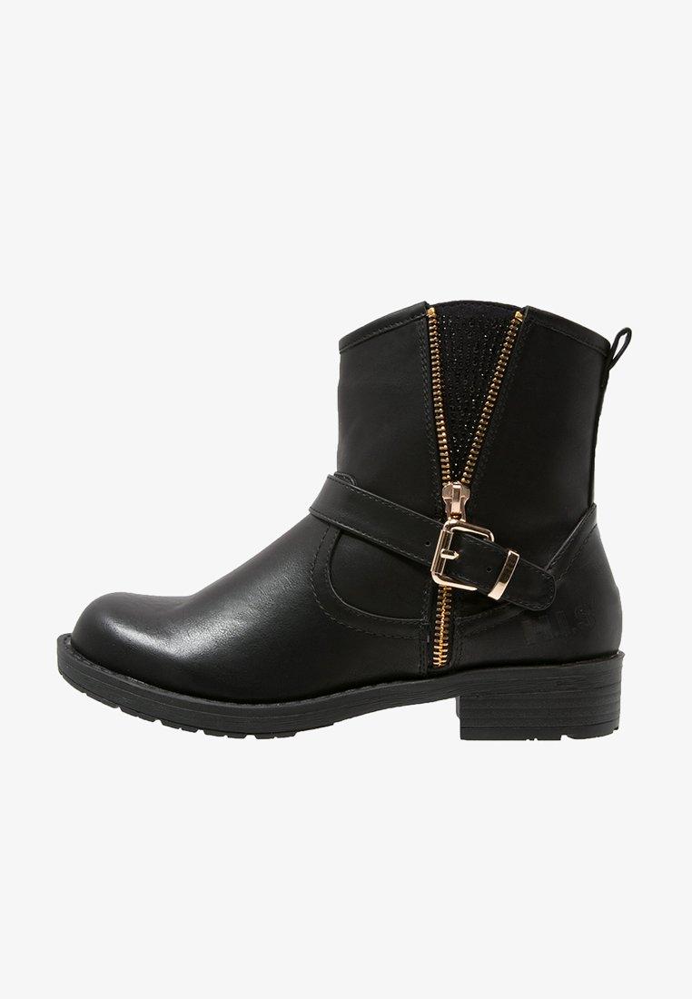 H.I.S - Cowboy/biker ankle boot - black