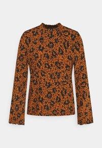 TOM TAILOR DENIM - SMOCKED NECK - T-shirt à manches longues - brown - 0
