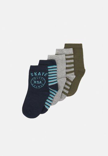 NMMVAGN 5 PACK  - Socks - grey melange
