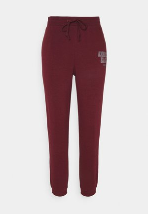 BRANDED PANT - Tracksuit bottoms - burgundy