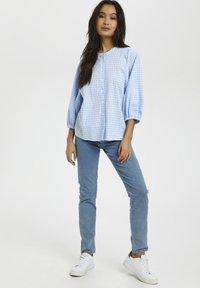 Kaffe - Button-down blouse - light blue check - 1