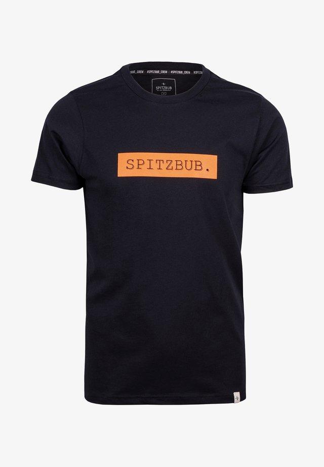 JOHANN - Print T-shirt - black