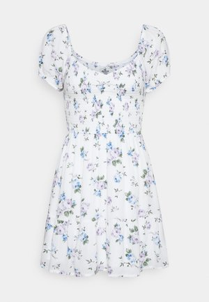 SHORT DRESS - Robe d'été - white floral