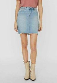 Vero Moda - Pencil skirt - light blue denim - 0