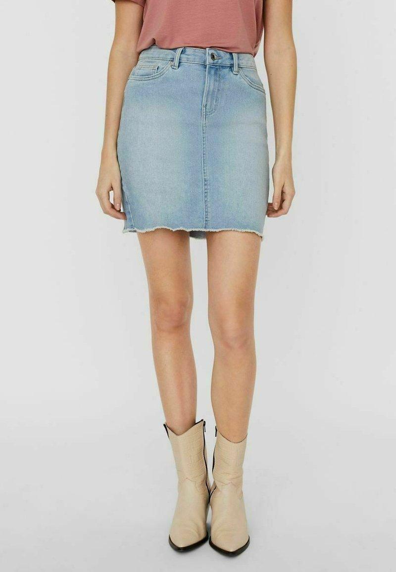 Vero Moda - Pencil skirt - light blue denim
