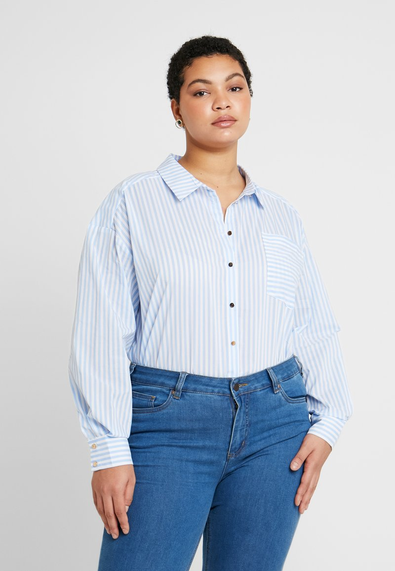 Kaffe Curve - AMINA - Button-down blouse - blue