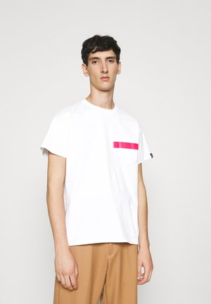 TAPE TEE - T-shirt print - white/pink