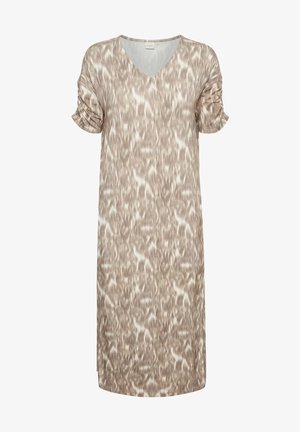 Day dress - tannin blured leo