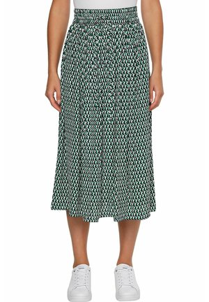 A-line skirt - court side geo print