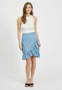 Vila - A-snit nederdel/ A-formede nederdele - light blue denim - 1